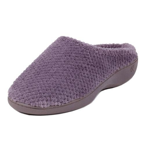 isotoner-ladies-popcorn-terry-mule-slippers-grey-uk-size-5