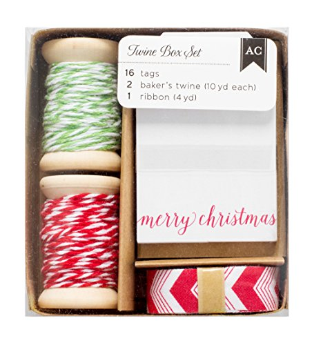 American Crafts Twine Boxes-Tags, Twine, Ribbon - American Crafts Ribbon Box