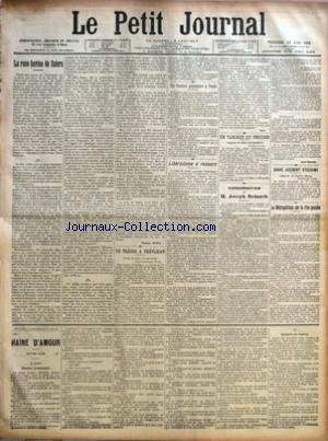 PETIT JOURNAL (LE) [No 14413] du 13/06/1902 - UN THEATRE POPULAIRE A PARIS - PAUL ESCUDIER - LIBERALISME A REBOURS - UN TABLEAU DU PERUGIN - LE DR ZAVA COLECTIONNEUR - CONDAMNATION DE JOSEPH REINACH - ACCIDENT D'ESCRIME A CHERBOURG - LE SOLDAT JUNQUART - LE METROPOLITAIN SUR LA RIVE GAUCHE - UN TRESOR A TREVIJEAN - FELIX PITOIS - LA RACE BOVINES DE SALERS par Collectif