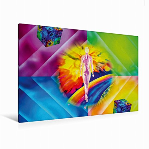 Premium Textile Toile de 45cm x 30cm paysage arc-en-ciel de Danse, 120 x 80 cm por Walter Zettl