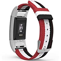Fitbit Charge 2 Band, MoKo Fine Woven Nylon Adjustable Replacement Band Sport Strap + Connector for 2016 Fitbit Charge 2Heart Rate Fitness Wristband.