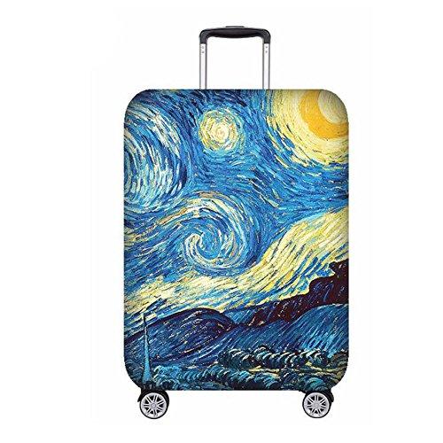 Hzjundasi Creativo Bagaglio Copertina Spandex Elastico Viaggio Valigia Protettivo Copertina Zippered (Valigia Non Incluso)