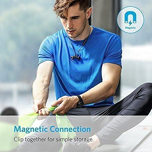 Anker Bluetooth Headphones, SoundBuds Slim Lightweight Wireless Headphones, IPX5 Sweatproof Sports Headphones with Mic and 7 Hrs Play Time for Running, Cycling, Gym, Travelling and More