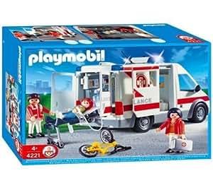 playmobil 4221 ambulanciers bless v hicule 4221. Black Bedroom Furniture Sets. Home Design Ideas