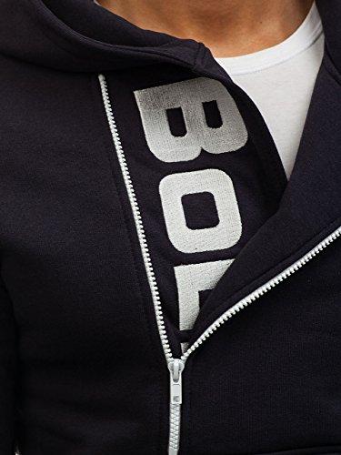 BOLF Herren Kapuzenpullover Sweatshirt Hoodie Pullover Sweatjacke Sportsweastshirt Mix 1A1 Dunkelgrau(Dunkel)_01S
