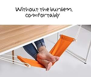 Olayer Mini repose-pieds hamac de bureau Orange