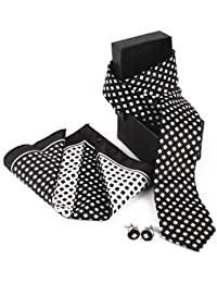 Giftacrossindia Black And White Collection Combination Gift Set Of Quality Fabric For Mens.