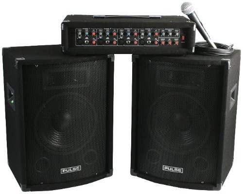 PA SYSTEM, PA HEAD + SPEAKERS PMH200KIT By PULSE by Best Price Square