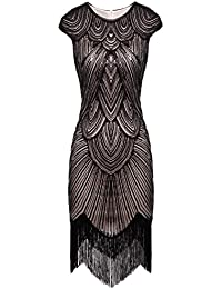 6444a00adbb5 FAIRY COUPLE Vestito Gatsby Donne 1920s Vestito Abito Anni 20 Donna Vestito  da Sera Paillette Impreziosito
