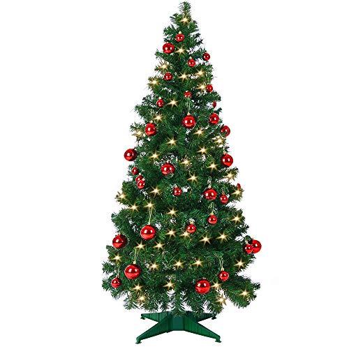 Weihnachtsbaum 150cm Ständer LED Lichterkette Pop Up künstlicher Tannenbaum Christbaum Baum Tanne Weihnachten Grün