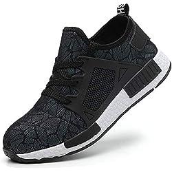 COOU Chaussures Securite Homme Femme Legere s3 Basket de Securite Confortable Chaussure de Travail