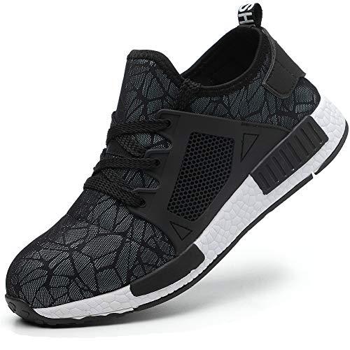 COOU Zapatos Seguridad Hombres Ligeros S3 Calzado de Seguridad Deportivo Antideslizante Zapatos de Trabajo Mujer Hosteleria