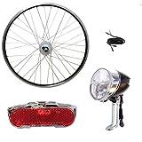 Saiko 28 Zoll Vorderrad Laufrad Shimano Nabendynamo Komplettset mit Beleuchtung