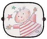Altabebe Sonnenschutz (2er Pack) AL7022-2 Schützt vor Wärme und Sonnenlicht, einfache Befestigung mit Saugnäpfen, Maße: 46x36cm, 2 Stück im Lieferumfang, Motiv: Sterne und Kind.