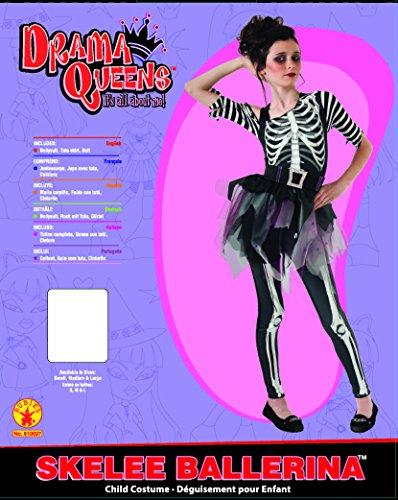 Imagen de rubie 's disfraz oficial esqueleto bailarina disfraz infantil de tamaño mediano alternativa