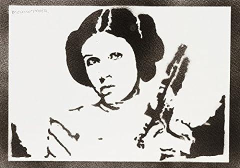 Prinzessin Leia STAR WARS Handmade Street Art - Artwork - Poster (Cosplay Haus Kostüme)