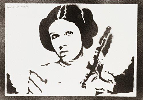 Stil Buch Comic Kostüm (Prinzessin Leia STAR WARS Handmade Street Art - Artwork -)