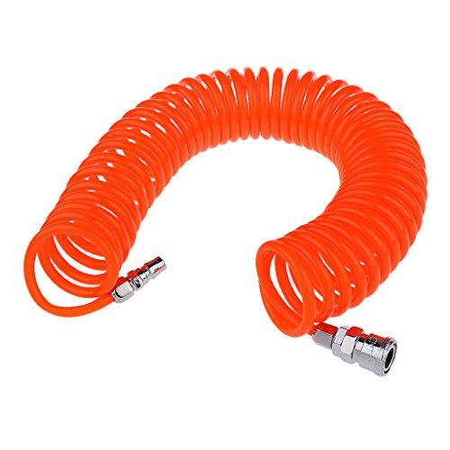 MagiDeal Manguera de Aire Tubo de Resorte Herramienta de Compresor de Aire Tubo de Resorte 9 m 8 mm X 5 mm Color Naranja