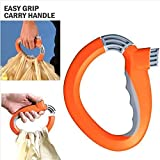 SOSA One Trip Grip Bag Handle Grocery Carrier Holder Carry Multiple Plastic Bags Lock