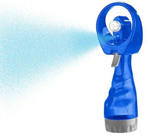 PEARL Handventilator: Hand-Ventilator mit Wassersprüher, 300 ml-Wassertank, Batteriebetrieb (Sprühflasche mit Ventilator)