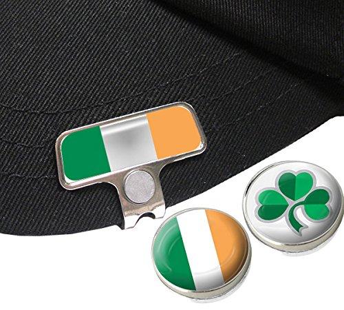 IRLAND ELITE ODER MÜTZE CAP CLIP MIT 2 IRISH GOLFBALL-MARKER