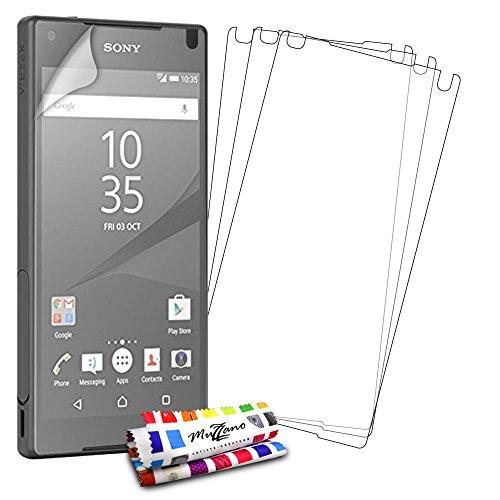 Protektoren Bildschirm für Sony Xperia Z5Compact, 3Displayschutzfolien [UltraClear] [transparent] + Eingabestift und Reinigungstuch Muzzano® angeboten-Der Schutz Display Ultimative und nachhaltige für Ihre Sony Xperia Z5Compact