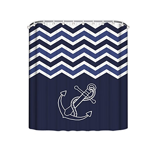 misshow-nautical-anchor-shower-curtain-coral-white-black-chevron-zig-zag-with-anchor-bathroom-fabric