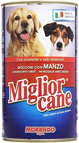 Migliorcane - Alimento Completo Per Cani Adulti, Bacconi Con Manzo, Vitamine E Sali Minerali - 1250 G