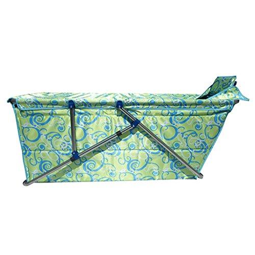 JCOCO Faltbare Badewanne Erwachsene Haushalt Verdickung übergroßen Portable Folding Badewanne Isolierung Durable leicht zu reinigen Kind Badewanne (Farbe : Green) -