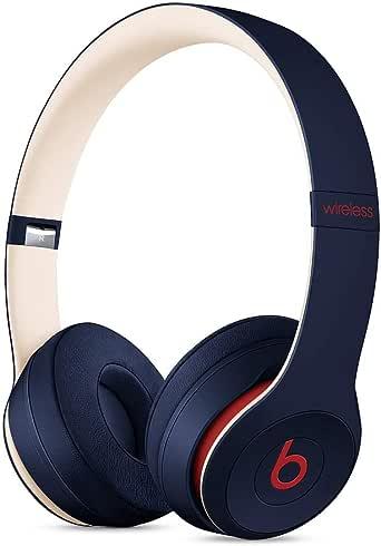 Casque supra-auriculaire BeatsSolo3 sans fil- Puce AppleW1 pour casques et écouteurs, Bluetooth classe1, 40heures d'écoute- Bleu foncé Club