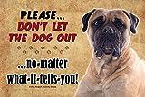 Inglés Mastiff–no dejes que el perro a cabo... realista mascota imagen 9x 6interior mascota perro placa decorativa de madera. Buques de Ontario, Canadá.