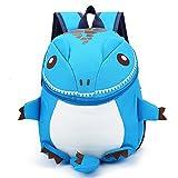 DafenQ Mochila Infantil 3D Dinosaurio Guardería Bolsas PequeñA Bebé Primaria Bolsa para Niños (Azul)