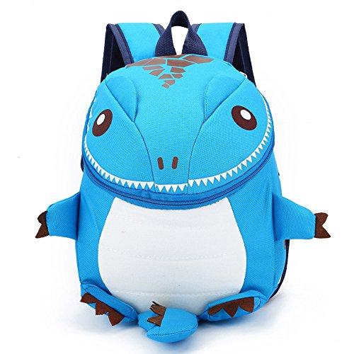 Imagen de dafenq  infantil 3d dinosaurio guardería bolsas pequeña bebé primaria bolsa para niños azul