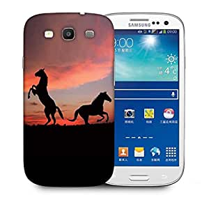 Snoogg Standing Horse Printed Protective Phone Back Case Cover For Samsung S3 / S III