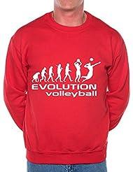 Evolution de Volleyball SweatshirtJumper cadeau d'anniversaire humoristique Unisexe Taille S-XXL