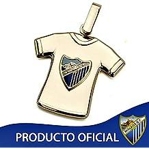 Colgante camiseta escudo Málaga CF oro de ley 18k estampada [8683]