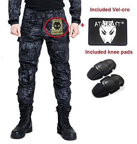 Worldshopping4U Shooting Bdu Combat Pants Rousers With Knee Pads M T