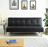 Hogar24-Sofa cama clic clac acabado en piel sintética