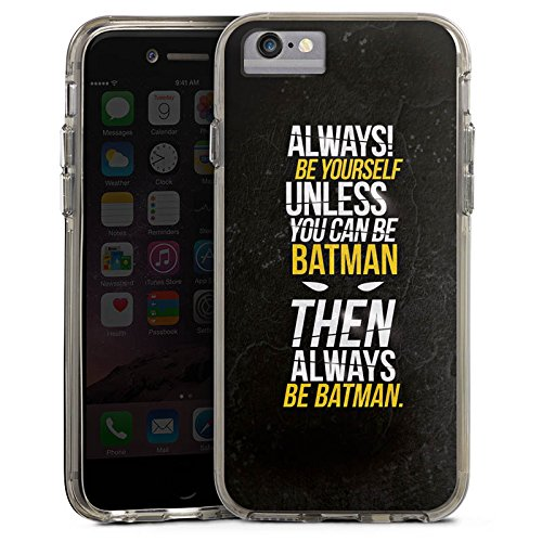 Apple iPhone X Bumper Hülle Bumper Case Glitzer Hülle Batman Sayings Phrases Bumper Case transparent grau