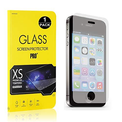 Bear Village® iPhone 4 / 4S Displayschutzfolie, 9H Hart Schutzfilm aus Gehärtetem Glas, Ultra-klar Displayschutz Schutzfolie für Apple iPhone 4 / 4S - 1 Stück