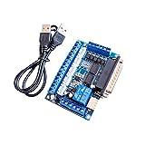 Espeedy CNC 5Axis pilote de moteur pas à pas carte interface avec câble USB Optocoupleur Isolation pour Mach3machine de gravure