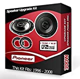 Ford KA Front Door Speakers Pioneer car speakers + adapter rings pods 240W