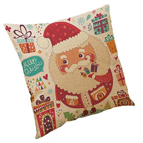 AMUSTER Weihnachtsbaum Kissenbezug kissenhülle Kopfkissenbezug Bettkissenbezug Pillowcase Dekorativer Kissenbezug 45 * 45cm C