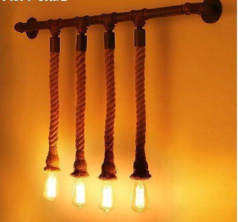 Corde créatif mur lampe rétro salle à manger salon vêtements magasin 1070 * 600 (mm)