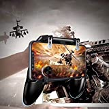 Vrunda™ 3 in 1 Mobile Remote Controller Gamepad Holder Handle Joystick Triggers for PUBG L1 R1 Shoot Aim Button for iOS…