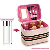 ZJIAN PU Beauty Box Make Up Caso Scatola cosmetica Borsa a Mano Scatola portaoggetti Vanità con Spazio Extra-Large,Borsa cosmetica Fatta a Mano,Borsa da Viaggio Impermeabile e Portatile