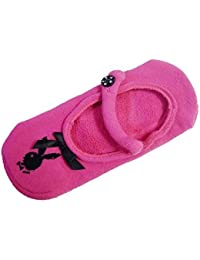 Official Playboy Hologramme Lapin Motif Tete Fuchsia Anti-dérapant Chaussettes Chaussons