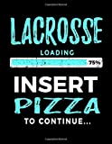 Lacrosse Loading 75% Insert Pizza To Continue: Blank Doodle Book Sketches Lacrosse Player - Dartan Creations, Tara Hayward