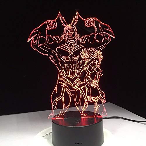 (Lifme Film Action-Figuren Strong Man 3D Nachtlicht Acryl Led Tischleuchte Mit Touch Fernbedienung Halloween Weihnachten Familie Geschenk)