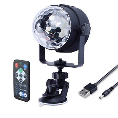 JAYLONG IR-Fernbedienung RGB LED Kristall Magie Rotierenden Ball Bühne Licht USB 5V Bunte KTV DJ Disco Lampe Party Effekt Licht